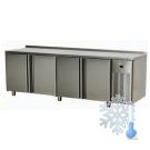 Stół chłodniczy czterodrzwiowy / blat nierdzewny SCH-4D/N